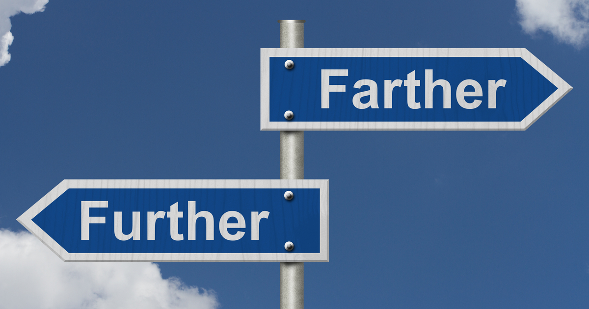Farther vs Further - Difference in the Meaning and Use